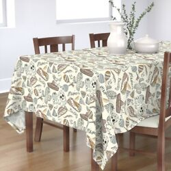 Tablecloth Burritos Mexican Food Tacos Sombreros Rattle Chili Cotton Sateen