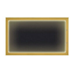 United Visual Products Uv417iled1plus-gold-rubber Corkboard,rubber/gold,60x36