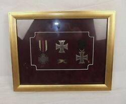 Cased Imperial Germany Ww1 Iron Cross Medal Display