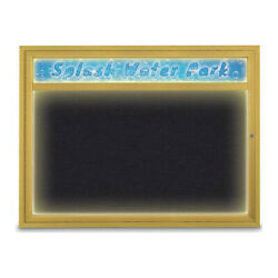 United Visual Products Uv451hiled1-gold-rubber Corkboard,48x36,rubber/gold