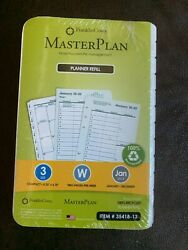 New Sealed 2013 Franklin Covey Planner Refill 35418-13 Size 3 Two Pages Per Week