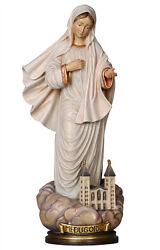 Our Lady Of Medjugorje Statues With Church Wood Carving