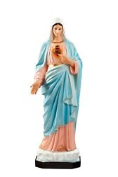 Statue Sacred Heart Of Maria Cm 130 In Fibreglass Eyes Painted Made In Italy