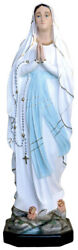 Statue Madonna Of Lourdes Cm 105 In Fibreglass With Eyes Of Glass