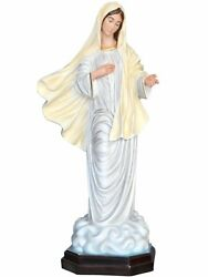 Statue Madonna Of Medjugorje Cm 130 In Fibreglass With Eyes Of Glass