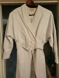 Womenand039s Leather Dero Enterprises By Rocco Pants And Jacket Set Sz M Reduced