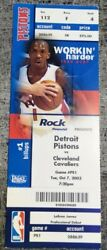 2003 Lebron James 1st Game Ticket Cleveland Cavaliers Pistons Los Angeles Lakers