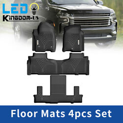 Floor Mats Liner All Weather For 2021 Tahoe Yukon Escalade Bucket Seating 4pcs