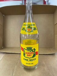 Vintage Tall 32 Oz Canadian Club Tonic Glass Bottle Empty Return For Refund