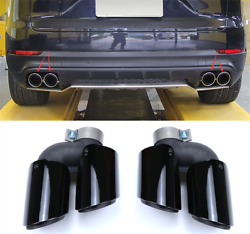 For Porsche Macan 19-2020 Stainless Steel Auto Car Exhaust Pipe Tip Tail Muffler