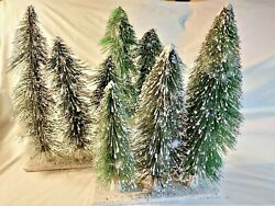 3x Ho Or O Scale Pine Trees 11-14 - For Train Scenery Diorama Set Of 3