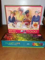 Brabeau And The Winner Is.. And Galison Plant Life Panoramic 1000 Pc Puzzles