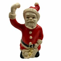 Vintage Ashland Rubber Toytime Toy Santa Claus Squeaky Ring Bell Christmas 10