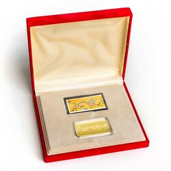 2000 Canada Commemorative Heart Of The Dragon 18k Gold Proof Stamp Set W/coa
