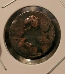 1984 Lincoln Penny Small Cent .01 Looks Like Mask Wearing Due To Corrosion