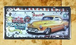Bar Club Lodge Cafe Plaques Drive In Liquor Store Tin Sign Car Plate