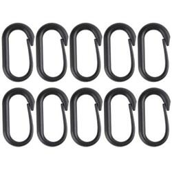 10pcs Carabiner Buckle Keychain U Ring for Tactical MOLLE Webbing Backpack #JD $7.26