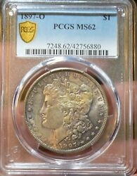 1897 O 1 Pcgs Ms62 Morgan Silver Dollar Better Date Coin Toned