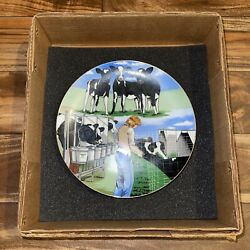 Vtg Land O Lakes Feico Collectible Limited/numbered Plate Farm Cow Agriculture