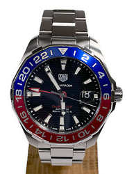 Tag Heuer Aquaracer Gmt In Pepsi Red Blue Bezel Colour