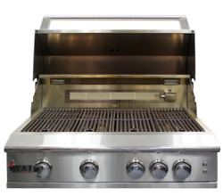Heat Hts-432-lp 32 4-burner Propane Built-in Grill Stainless Steel