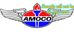 Amoco Gasoline Wings Contour Cut Vinyl Decals Sign Motor Oil Stickers Gas