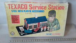 Vintage 60and039s Texaco Service Station Sealed Parts Look Wolverine Toy Co Steel