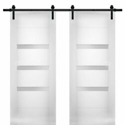 Vdomdoors Sete6900db-ws-3684 Modern Double 36x84 With Opaque Glass / Sete 6900