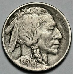 1913-p Type 1 Buffalo Nickel Us 5c Coin Flat Rate Shipping Lot 218
