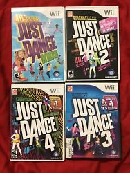 Just Dance 2 3 4 Kids Nintendo Wii Lot Of 4 Games - Complete And Tested