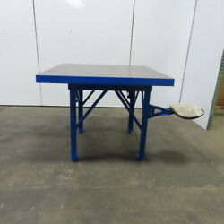 2-3/4 Thick Solid Steel Top Fabrication Welding Layout Work Table 50lx50wx41h