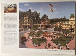 1966 Menu Domeliner City Of Portland With Photo Of Disneyland Town Square
