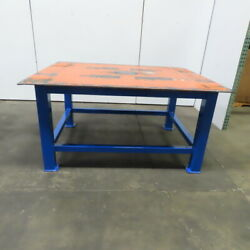 3/8 Thick Top Steel Fabrication Welding Layout Table Work Bench 72lx56wx36h