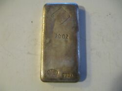 Rare 20 Oz Poured Jm Johnson And Matthey Silver Bar - Mintage Less Than 250