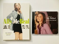 Ally Mcbeal 1997 Fox Season 1 Dvd 6-disc And Series Soundtrack Cd Lot Of 2
