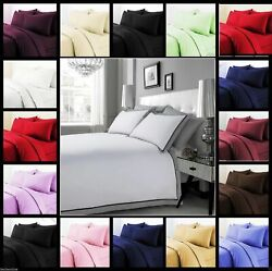3 Pc Duvet Set+ Fitted Sheet Us Sizes And Colors 1500 Thread Count Egyptian Cotton