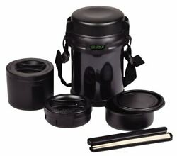 New Pearl Metal Hb-254 Thermos Double Stainless Lunch Box Bento 3 From Japan