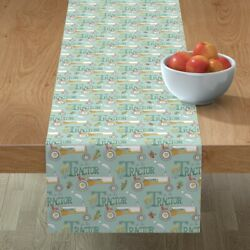 Table Runner Tractor Country Farm Farmer Baby Boy Tractors Cotton Sateen