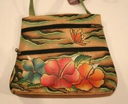 Handbags, Women, Leather, Hand Painted, New With Tags, Genuine