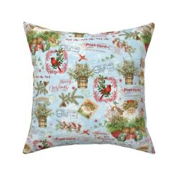 Santa Claus Fox Kit Cardinals Throw Pillow Cover W Optional Insert By Roostery