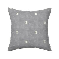 Minimal Bohemian And Cream Boho Throw Pillow Cover w Optional Insert by Roostery