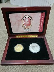 Twin Set Nelson Mandela Gold Coin 1oz 90 Years - 2008