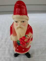 Vintage 1930 Rattle Santa Irwin Usa Celluloid Excellent Condition 5 Inch