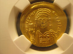 Authentic Byzantine Gold Coin Justinian I 527-565ad Solidus - Ngc