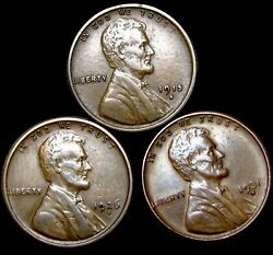 1915-s 1926-s 1931-d Lincoln Cent Penny ---- Nice Lot ---- T062