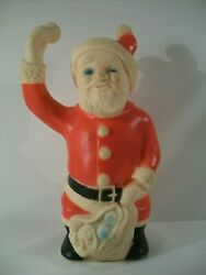 Vintage Ashland Rubber Products Toytime Santa Claus Squeak Toy 10.25 Tall