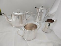 Exceptional Original Hotelware Tea Set Stunning Quality Heavy Silver Plate