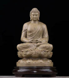 Q123 Natural Incense Wood Carving Statue Of The Buddha Buddhist Art Shen