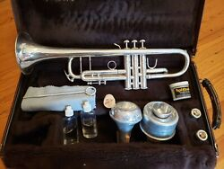 Bach Stradivarius 180s37 Bb Silver Trumpet W/ Tom Crown And Harmon Mutes--nice