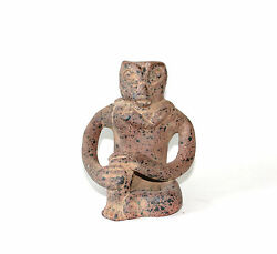 Vintage Mexican Art Pottery Aztec Or Mayan Clay Figurine Statue